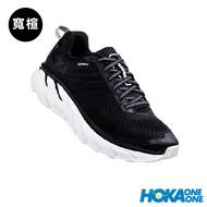 【線上體育】 HOKA ONE ONE男 Clifton 6 wide 路跑鞋黑/白
