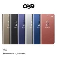 售完不補!強尼拍賣~QinD SAMSUNG A8s/A20/A30 透視皮套 掀蓋 硬殼 手機殼 保護套 支架