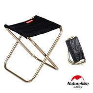 Naturehike L012超輕量便攜式收納鋁合金折疊椅 釣魚椅  黑色