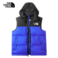【The North Face】1996Nuptse 羽絨背心S藍