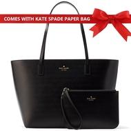 Kate Spade Bennet Place Small Harmony Tote And Wristlet Set Handbag Black # WKRU4766 + Gift Receipt