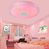 智慧藍牙燈具吸頂燈led圓形臥室兒童房間簡約現代遙控音樂燈客廳 英雄聯盟