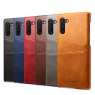 三星 S20+ S20 Ultra S10+ S10 S10e S9+ S9 S8+ S8 保護殼牛皮仿真皮雙插卡手機殼