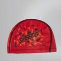 【線上體育】SPEEDO 兒童合成泳帽 Pace 紅-印花 SD811307B954