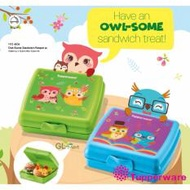Tupperware Owl-Some Sandwich Keeper Lunch Box for School Lunch Snack Time