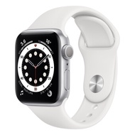 Apple Watch Series 6 GPS 44mm, Silver Aluminum Case, White Sport Band