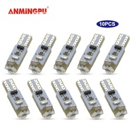 ANMINGPU 10x ไฟสัญญาณ Led T5 W3W W1.2W Led Canbus 3014SMD แผงหน้าปัดรถยนต์เกจ์วัดไฟสัญญาณเตือนไฟเครื่องมือ12V