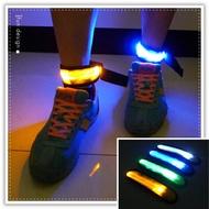 【aife life】LED鬆緊臂帶-橢圓/LED反光條綁帶/夜間反光條/反光手環/反光腳環/警示燈/自行車路跑活動/寵物發光項圈