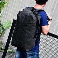 กระเป๋าเป้สะพายหลังขนาดใหญ่สำหรับ Man กระเป๋าสะพายขึ้นภูเขากระเป๋าเดินทางชายผ้าใบกระเป๋าเดินทางถังกระเป๋าผู้ชายสะพายไหล่กระเป๋ากระเป๋าเป้สะพายหลัง