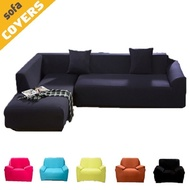 L Shape Stretch Elastic Fabric Sofa Cover Sectional /Corner Couch Covers
