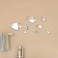Fish Wall Sticker Ocean Fish Mirror Sticker Acrylic Mirror Wall Sticker