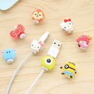 卡通造型蘋果iphone數據線保護套 耳機充電線防斷裂保護器