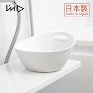【日本岩谷Iwatani】RETTO一體簡約圓形浴室舀水盆(水瓢 沐浴 盥洗 洗澡)