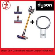 Dyson V8™ Carbon Fibre Cord-Free Vacuum Cleaner + Dyson AM06 Desk Fan White/Silver