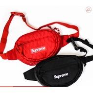 現貨 Supreme 2018 Fw 45th Waist Bag Box Logo 紅 黑 菱格 腰包 隨身小包