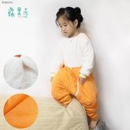 ✜✳◕嬰兒加棉分腿睡袋兒童寶寶秋冬加厚防踢被中小童小孩自制大版200G