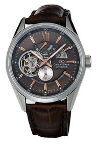 ORIENT STAR 東方之星鏤空機械錶 皮帶款 咖啡色 SDK05004K