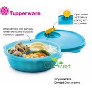 Tupperware CrystalWave Divided Dish Lunch Box 900ml Microwaveable