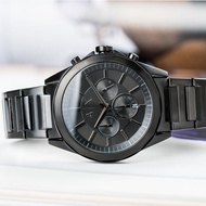 【ARMANI EXCHANGE】率性條紋壓痕三眼腕錶(AX2601)