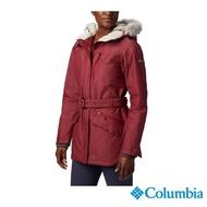 【Columbia 哥倫比亞】女款-Omni-Tech 防水保暖外套-紅色(UWR41170RD / 保暖.防水.長版)