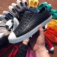 【實拍現貨】專櫃正品 加拿大Native JERICHO 洞洞鞋 修身鞋 防水 雨鞋 全白 女鞋 休閑鞋