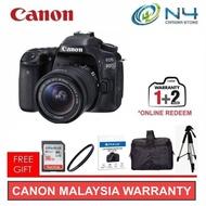 Canon EOS 80D (18-55mm) DSLR Camera + 16GB + Screen Protector + Filter + Bag + Tripod (Original WTY)