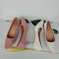 รองเท้าคัชชูส์ 2นิ้ว รองเท้าคัชชูส์หัวแหลม รองเท้าคัชชูส์ส้นเข็ม รองเท้าคัชชูส์สีขาว รองเท้าคัชชูส์สีชมพู ไซส์ 36-40   สีขาว สีชมพู