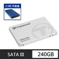 【外接盒超值組】Transcend 創見 TS240G SSD220S 240G固態硬碟+ 凡達克 SATA 2.5吋外接盒 USB3.0