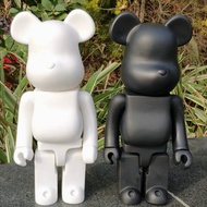 Bearbrick 400% Collectible White Black Bearbrick Models 28cm Blocks Bears PVC Action Figures