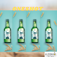 (Set of 4 Bottles Korean Soju) Oneshot Soju (4 x Original)+FREE 1 x Soju Glass