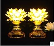 LED Crystal Light before imitation Lotus Buddha Buddha lamp for light long light