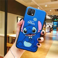 Sarung Ponsel OPPO A15 A15s, Pelindung Penuh Kartun Lucu Stitch Silikon OPPO A15 OPPO A15s