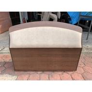 香榭二手家具*胡桃皮墊 單人加大3.5尺收納床頭箱-床頭櫃-床邊櫃-床架-單人床-台中家具回收-中古床架-床墊-2手貨