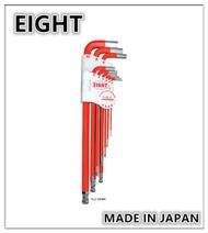 EIGHT 日本製六角板手 【紅色】 白金六角板手 彩色柄 L型六角板手 球型六角扳手 六角扳手組