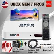 🔥Unblocktech PROS UBOX 7 TVBOX🔥 32G Rom 5G Wifi (Free air mouse keyboard & LAN C