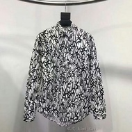 Dior Homme 18年款 荊棘 印花 襯衫 男女同款