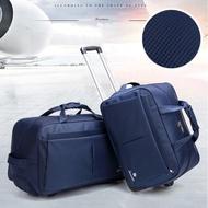 【悅生活】GoTrip微旅行--23吋經典細格登機拉桿收納購物車 藍色(拉桿包 拉桿袋 行李箱 購物車)