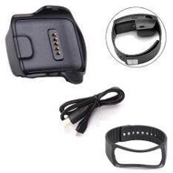 Charge Dock for Samsung Galaxy Gear Fit R350 Watch +Cable+Wrist Strap BK
