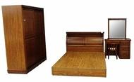 【尚品家具】663-30 和全 樟木半實木5尺床組~另有6尺床組/套房家具組/雅房傢俱組/臥室桌椅櫥櫃床組