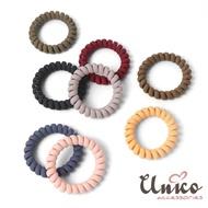 【UNICO】清新無痕多色電話線髮圈/髮繩-8入組(配件)