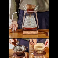 Dolity 1x Stainless Mesh Coffee Filter Cup Cone Pour Over Drip Dripper Maker Holder