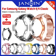 Watch Case + Metal Strap For Samsung Galaxy Watch4 Classic 42mm 46mm Case Protector Wrist Strap Band For Samsung Galaxy Watch 4 Stainless Steel Bracelet Accessory
