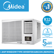 MIDEA 1HP / 1.0 HP Window Type Full Inverter Air Conditioner With Remote For Small Room 12-18 SQM / Aircon / Airconditioner NEW R32 Refrigerant Energy Efficient Environment Friendly FP-51ARA010HEIV-N4 (HIGHEST EER 13.0) Home Appliances on Sale