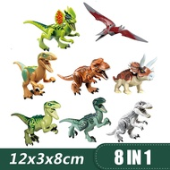 Jurassic World Park Dinosaurs Set Raptor protection zone Building Blocks Compatible Lego Toys for children Kids boys