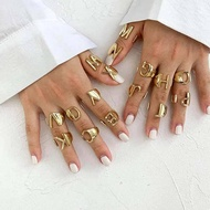 18K Gold Plated Rings (Alphabet RIng,Zirconia Bulgary Ring, Stripe Ring, Stone Ring) by ELM (READY STOCK FREE SHIPPING)