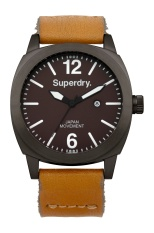SUPERDRY THOR TAN CALF LEATHER STRAP WATCH SYG103TT - intl