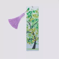 5D Diamond Painting Spring Green Tree Bookmark Diamond Embroidery Craft Tassel Book Marks for Books Christmas Gifts