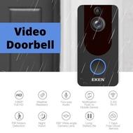 【SG】Wireless Video Doorbell/Smart Doorbell Camera EKEN with 1080P Two-Way Talk Motion Detector Night Vision Rechargable
