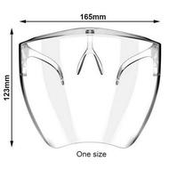 【No Dizzy+Anti-fog!】DENSOO Acrylic face shield Face Shield mask with glasses Eye protection visor half face safety glasses face shied with glasses eyeshield protection