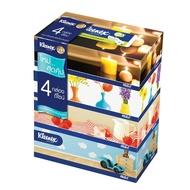Kleenex กระดาษทิชชู่เช็ดหน้า รูมดีไซน์ แบบกล่อง 110 แผ่น รวม 4 กล่อง